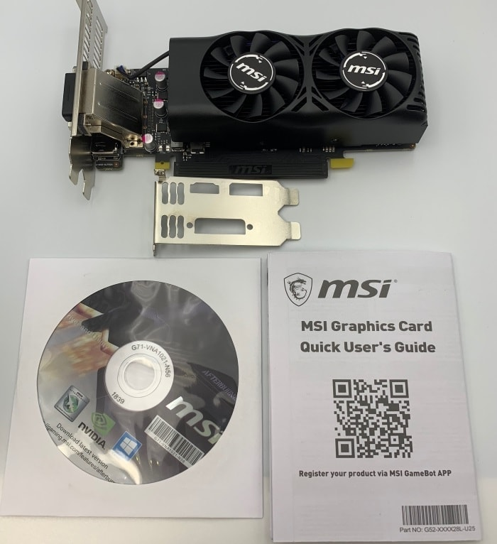 MSI「GeForce GTX 1050 Ti 4GT」付属品