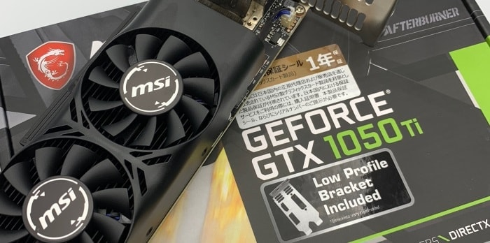 MSI「GeForce GTX 1050 Ti 4GT」