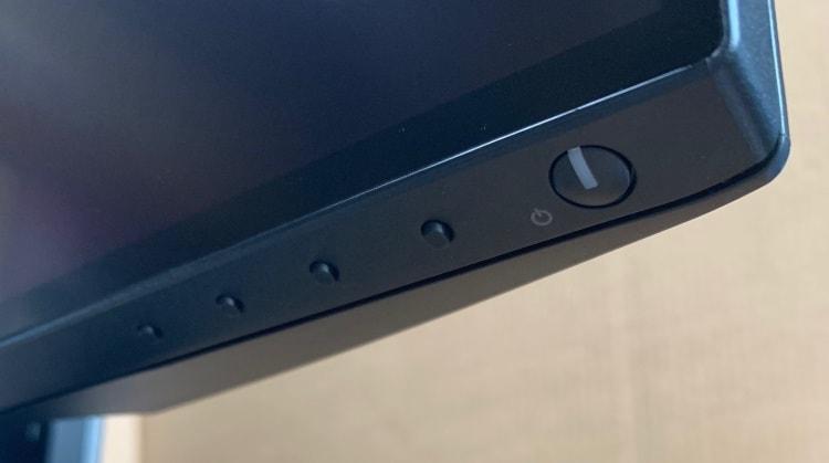 画面右下にななめの位置にボタン類