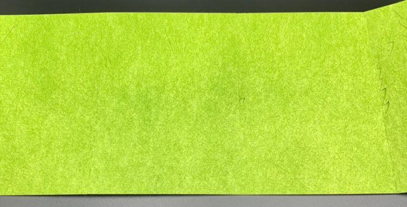同梱されているフィルターは長方形の状態