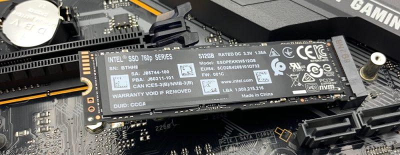 M.2 SSDをななめに挿します