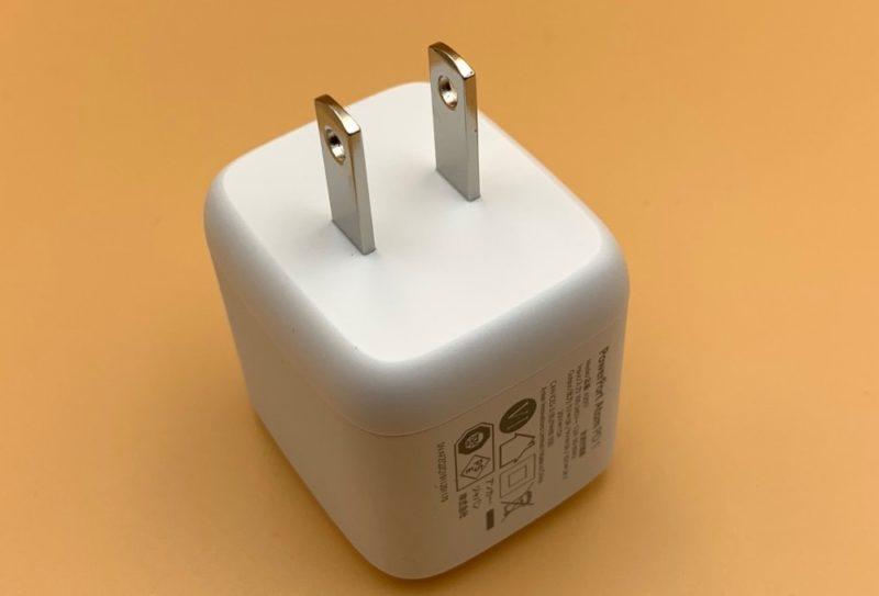 電源プラグは折りたたむことが出来ない構造