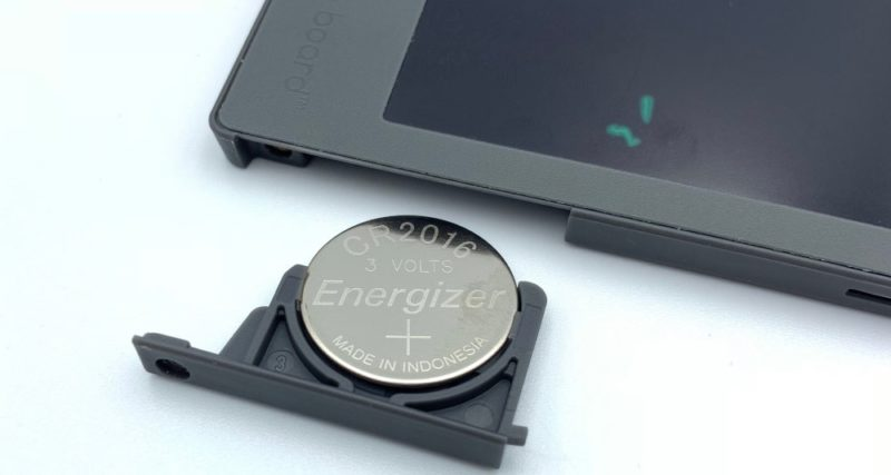 リチウムコイン電池(CR2016)を交換