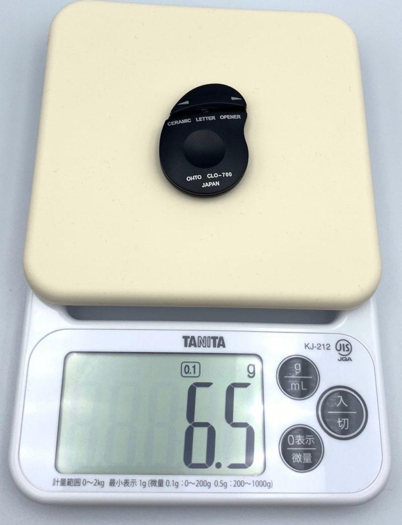 重さは6.5gと軽いです。