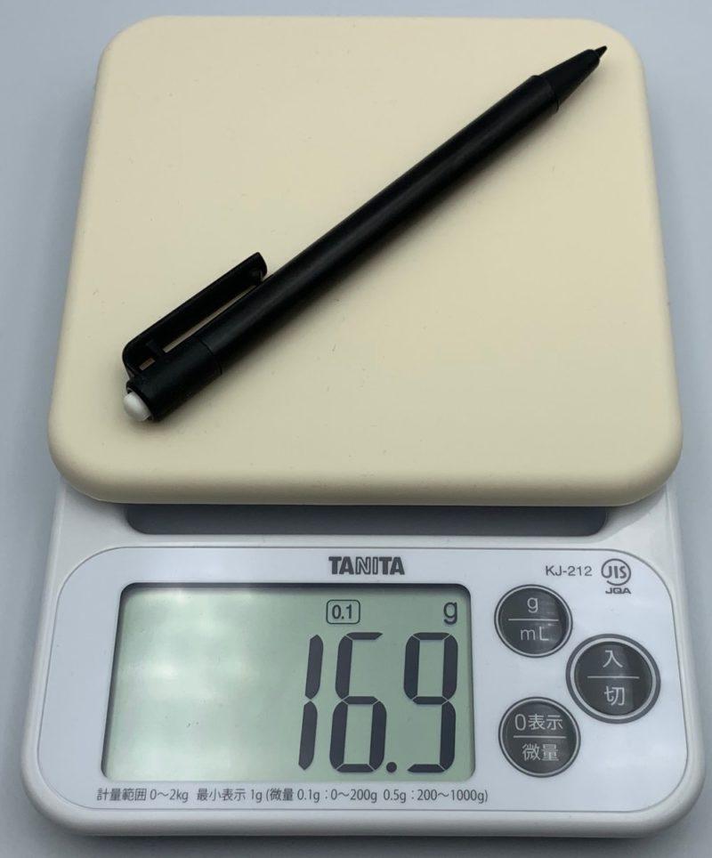 スタイラスの重さは約17g