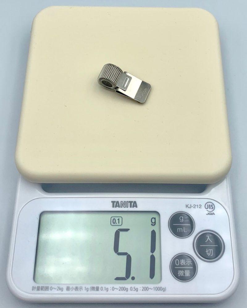 ミドリ ミニクリップペンホルダーの重さは 約5g