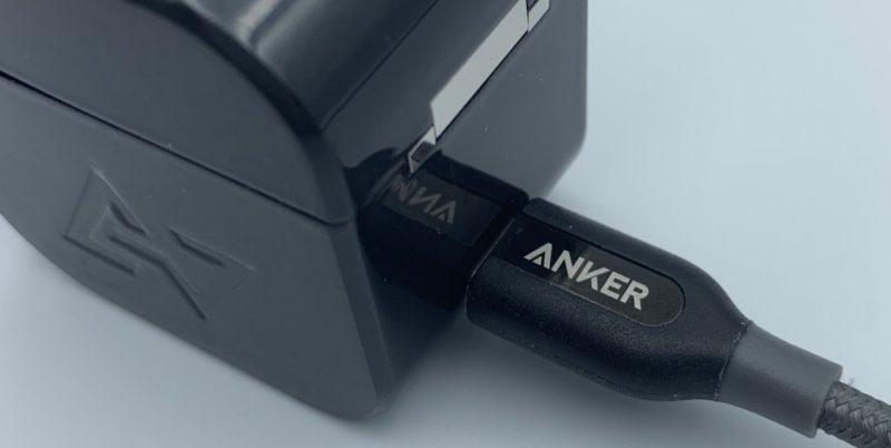 USB-Cケーブルで充電