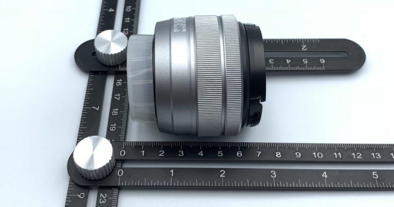 レンズの長さは 約6cm