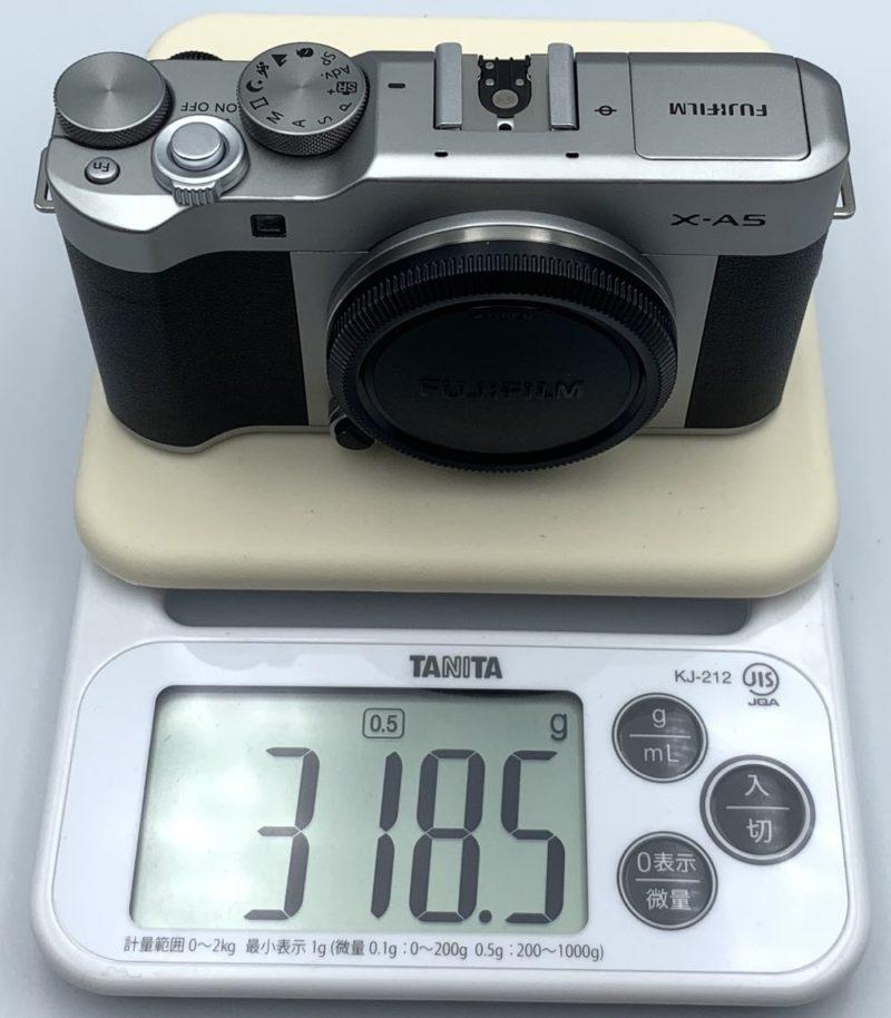 バッテリーをセットしていない状態の重さは約318グラム