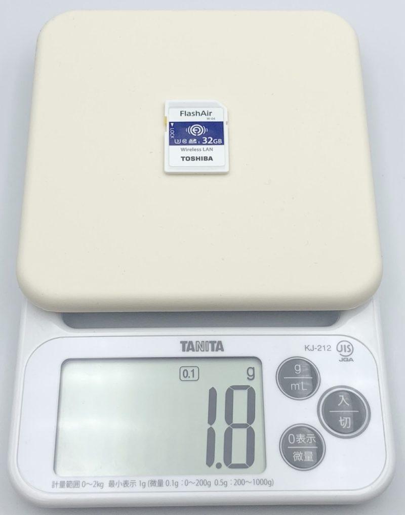 FlashAir W-04 の重さ