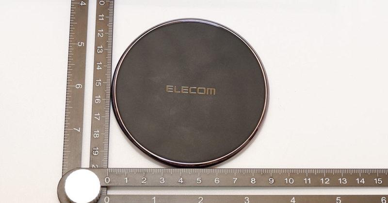 エレコム W-QA09X の直径は、約9cm ほど