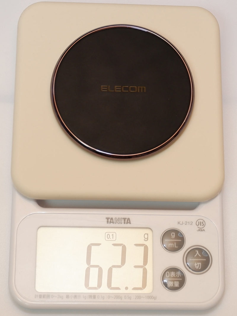 エレコム W-QA09Xの重さは 約62g