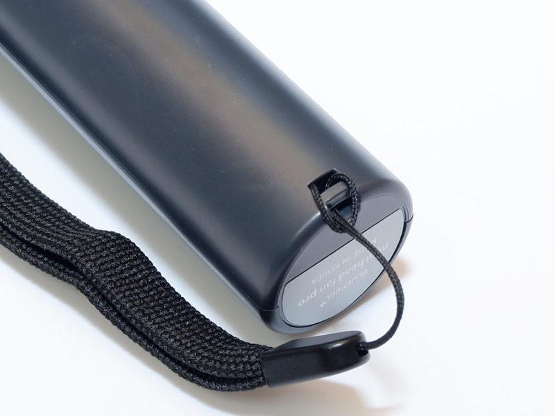 ハンドストラップは手持ち扇風機にピッタリ
