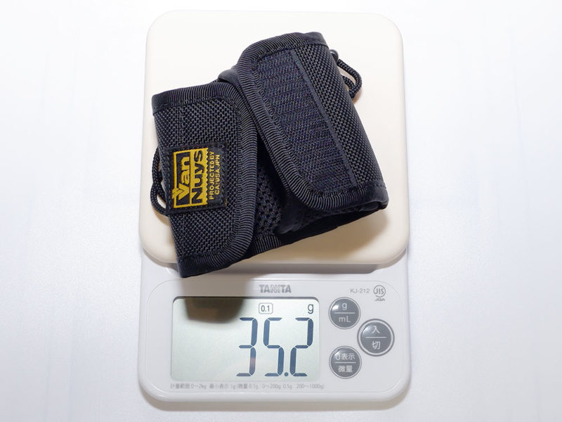 キャリングケースだけの重さは 約35g