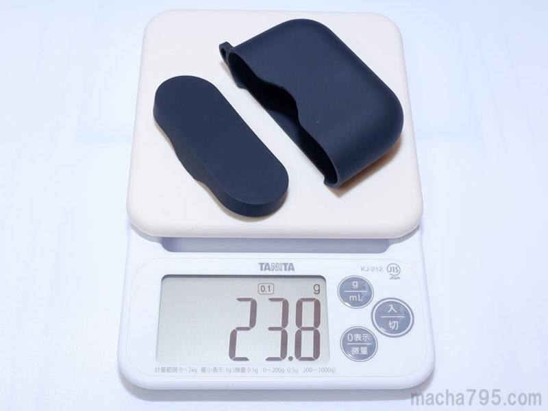 For シリコンケースだけの重さは約24gです。