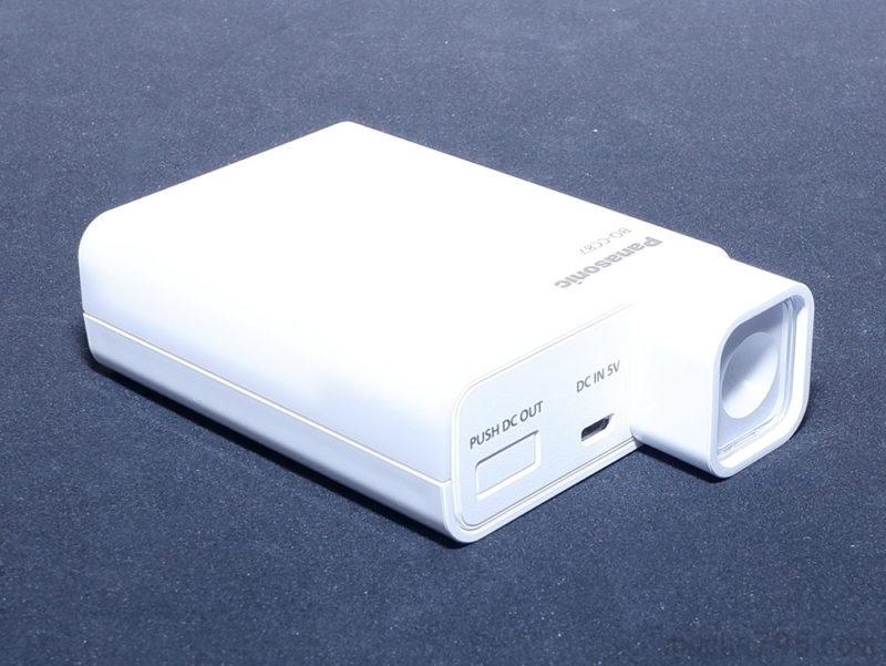 LEDライトアタッチメントは、充電器本体にピッタシのサイズです。