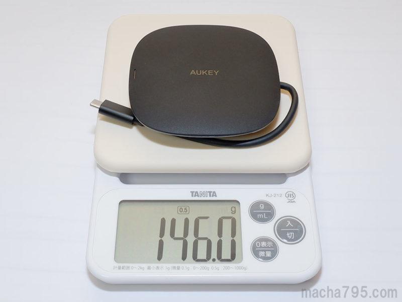 重さは146g