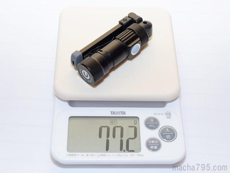 サンワ 800-LED029本体の重さは約77g
