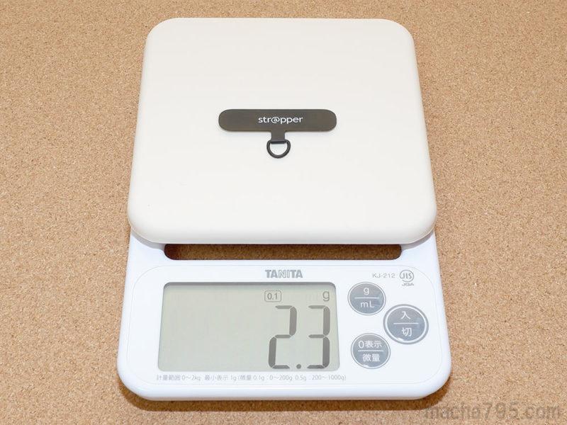 Strapperストラッパー の重さは約2g