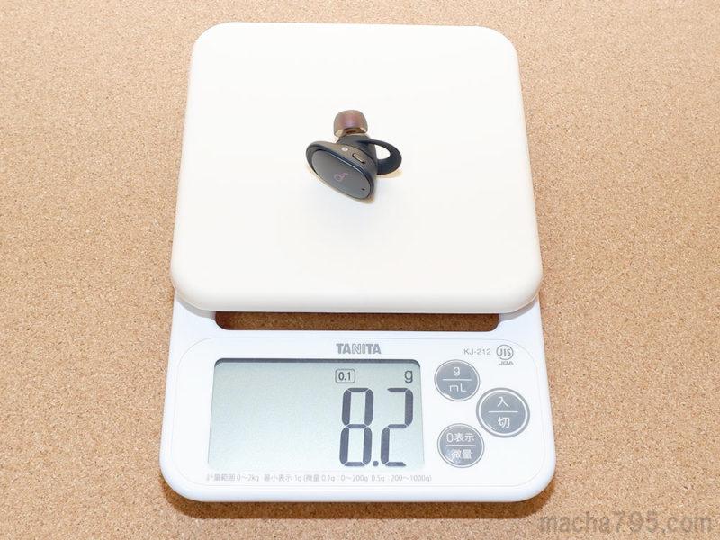 Soundcore Liberty 2 Proのイヤホンの重さは片耳1つだけでは 約8g