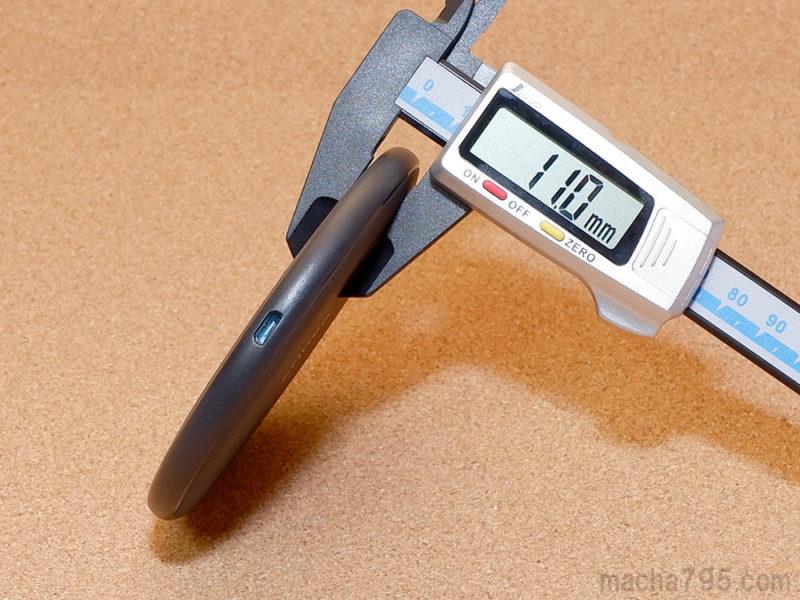 PowerWave 10 Padの厚さは1.1cmと、ほどよい薄さです。