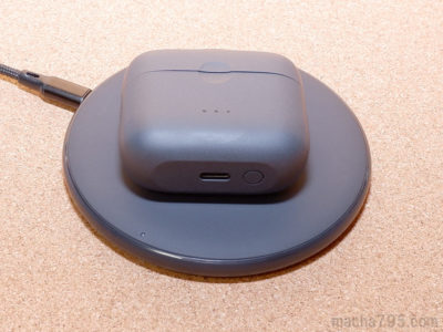 電環境も強化されて、ワイヤレス充電(Qi)に対応し、有線ならUSB-Cケーブルで充電できるようになりました。