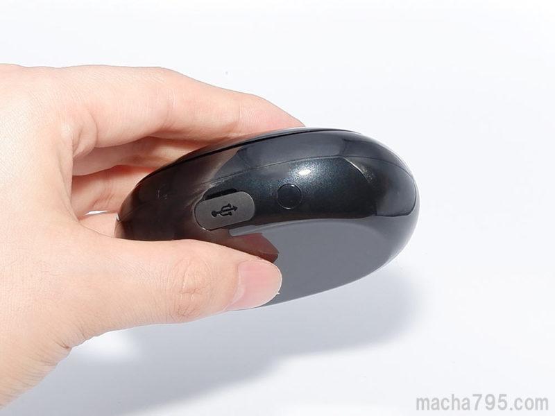 丸いボタンを3秒ほど長押しすると、ペアリング待機モードになります。