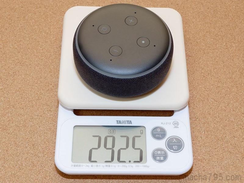 重さは約290gと、意外とズッシリとした重さです。