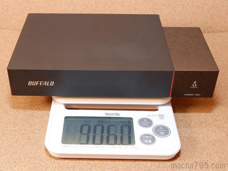 重さは約900gと少しズッシリとした重さになります。