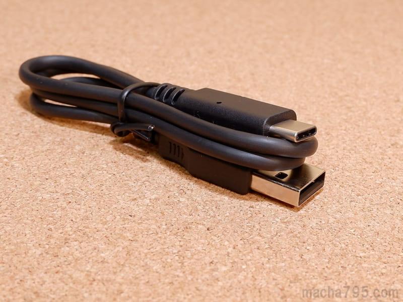 RZ-S50Wにはケースへ充電するためのUSB-Cケーブルが1本付属しています。