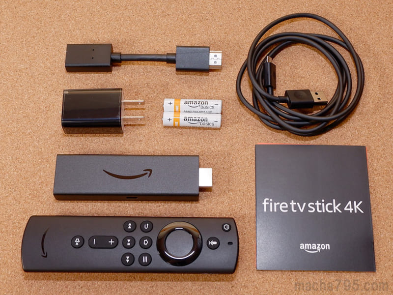 Fire TV Stick 4Kの同梱物