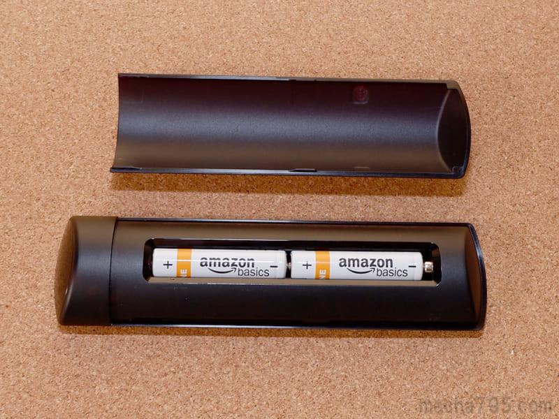 電池は単4形乾電池を2本使います。