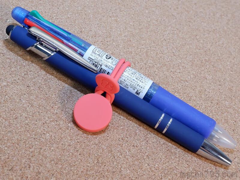 ボールペンなどは2~3本ほどくらいならまとめられます