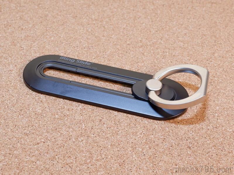リングは360°自由に回転でき、180°倒すことができるので自由度が高いです