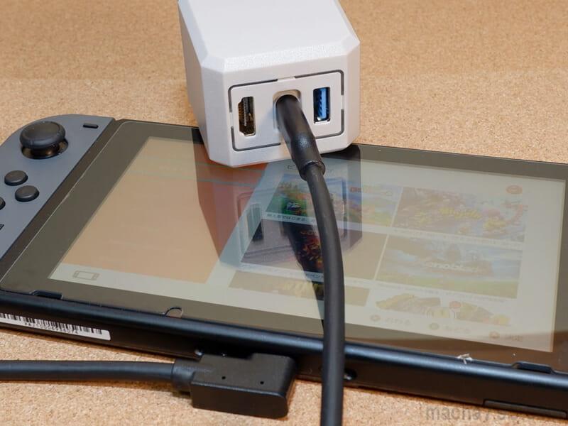 本体とNindendo Switchをつなぐケーブルとして使えます。