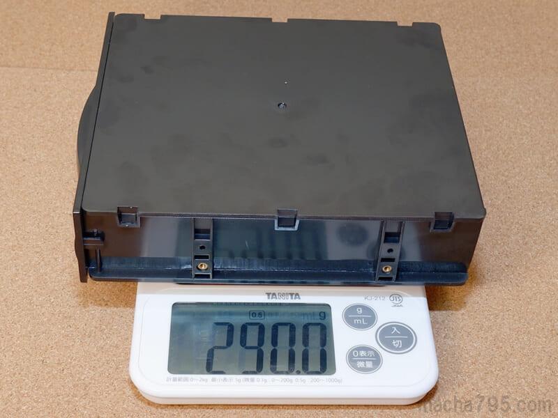 重さが290g