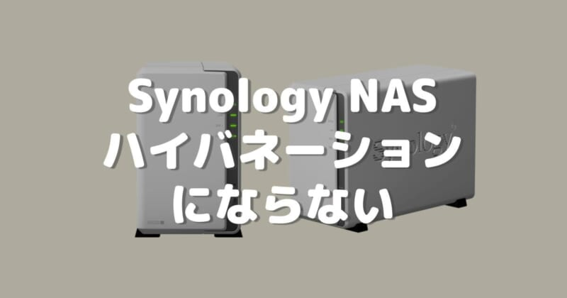 Synology NASがHDDハイバネーションにならない