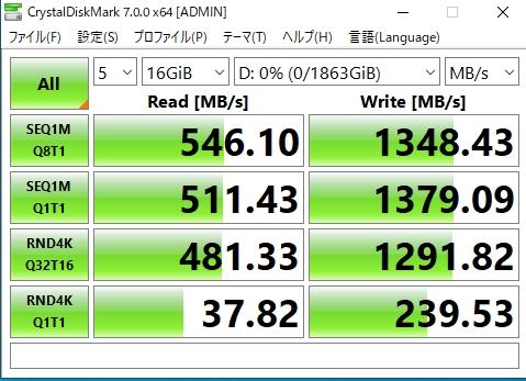 16GBにするとガクッと性能が落ちます
