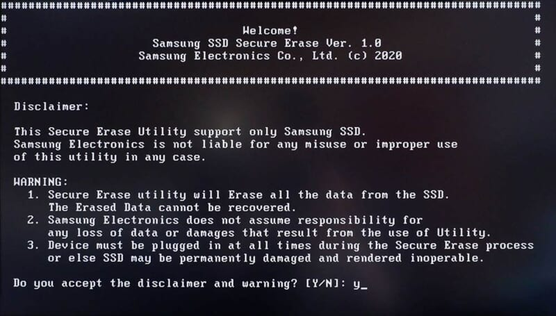 Secure EraseでSSDの消去を実行