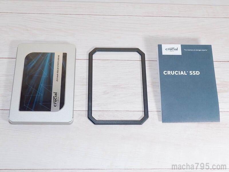 Crucial MX500 の同梱品