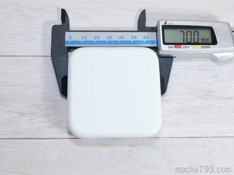 Remo3の大きさは約7cmの正方形