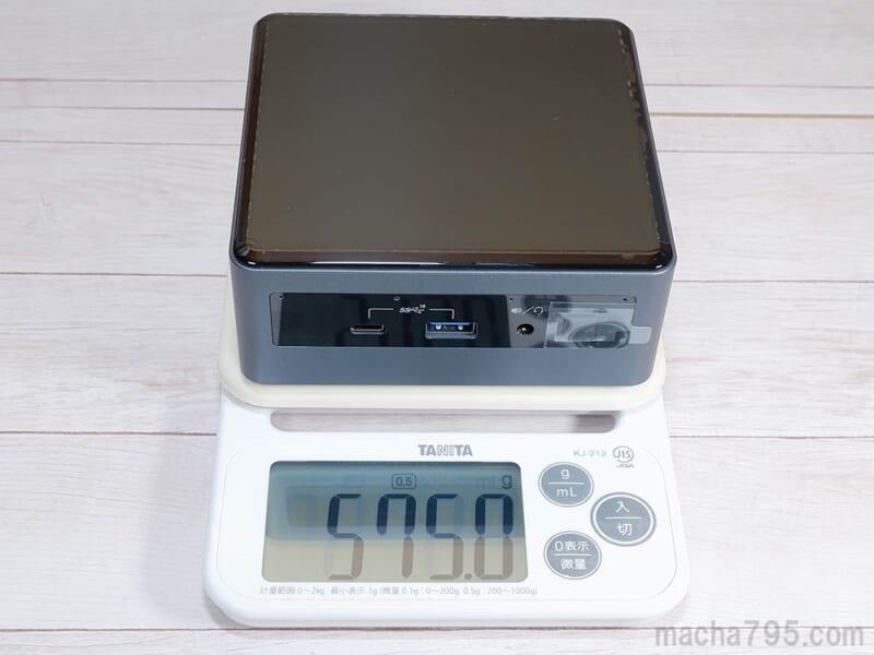 重さは約575gと軽量