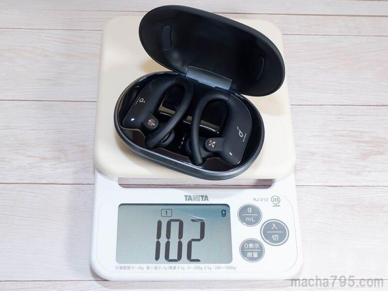 合計の重さは、約102g